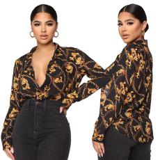 Fashion digital print shirt skirt