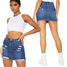 Sexy high waist denim skirt