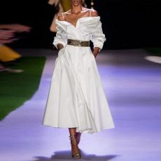 Fashion shirt collar dress