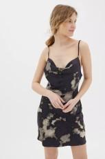 Digital print drawstring dress