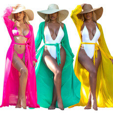 Fashionable beach clothes (single coat with belt)