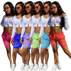 Fashion Print Shorts beach pants (single pants)