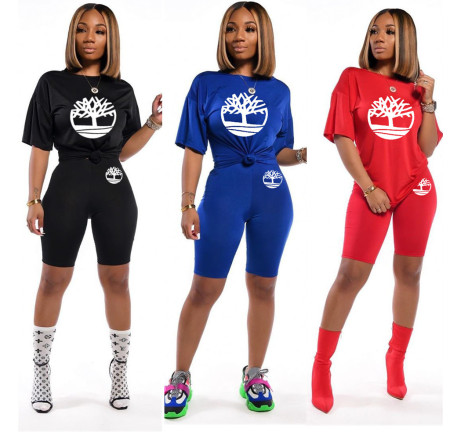 Two piece set of fashion casual printing