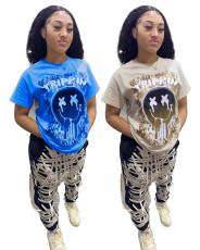 Sexy fashion print T-shirt