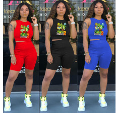 Two piece fashion and leisure set