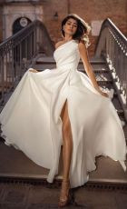 Sexy one shoulder sleeveless dress