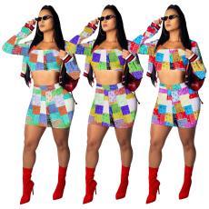 Fashion print stitching set