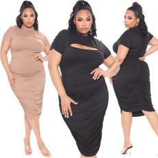 Pleated oversized dress
