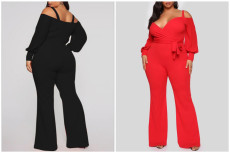 Solid loose flared Jumpsuit