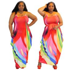 Irregular skirt dress