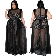Sexy perspective dress suit