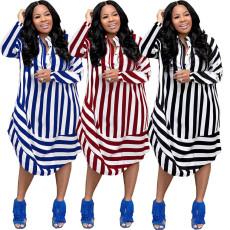 Fashion casual stripe dress