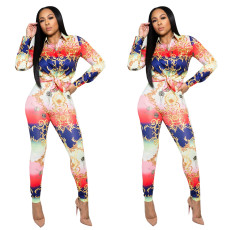 Rich leisure printing suit