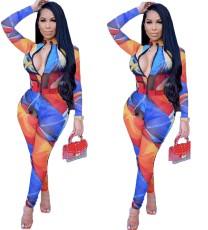 Sexy fashion print Jumpsuit
