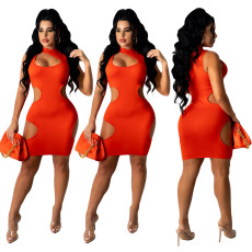 Sexy hollow out nightclub casual dress