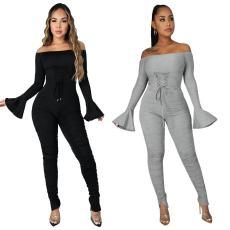 Fashion solid wrinkled Jumpsuit