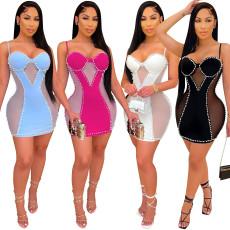 Fashionable sexy mesh dress