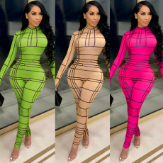 Digital positioning printing of sexy Jumpsuit