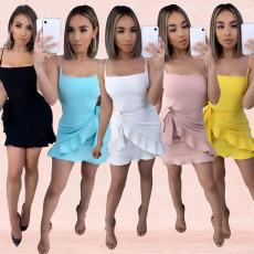 Fashion suspender sexy dress