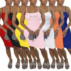 Sexy slim iron Diamond Dress