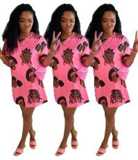 Casual print dress