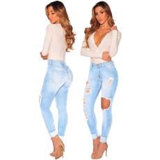 Fashion stretch high waist jeans