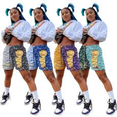 Fashion casual printed sports shorts