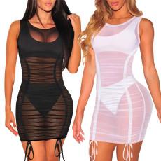 Sexy fashion super elastic mesh dress
