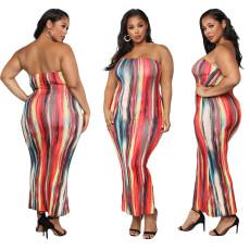 Sexy bra digital print dress
