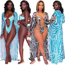 Printed Cape bikini swimsuit two piece set