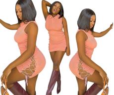 Fashion slim bandage buttock dress