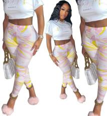 Fashionable multi color printed pants