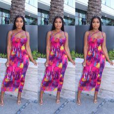 Sexy casual print dress