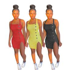 Solid Plaid print dress