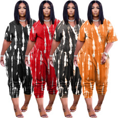 Casual fashion tie dyed Jumpsuit