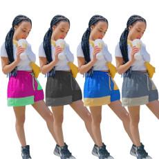 Fashion casual stitching shorts (single pants)