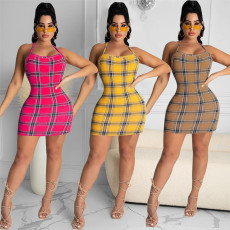 Fashion print sexy dress
