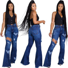 Fashion sexy flared jeans