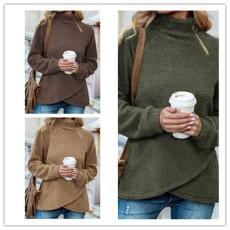 Fashion fleece warm jacket double side fleece coat