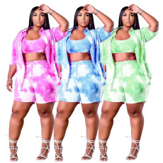 Fashion tie dye summer new 2-piece set