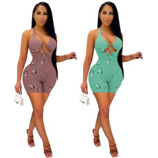 Sexy open chest strap Jumpsuit
