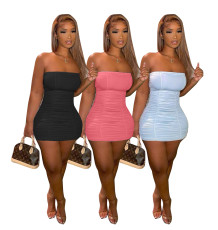 Open back fashion bra dress