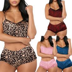 Nightwear two piece Leopard Print Set