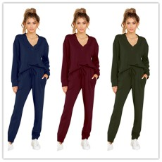 Fashion casual V-neck loose suit