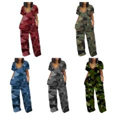 Camouflage striped print Jumpsuit