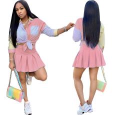 Pink Mini fresh skirt suit