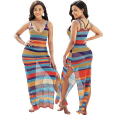 Sexy and fashionable super elastic mesh beach skirt