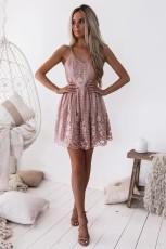 V-neck slim dress