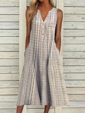 Fashion V-neck sleeveless dress