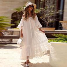 Fashion loose solid dress